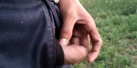 Indian pissing in outdoor