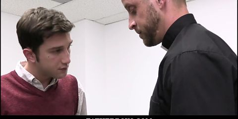 Cute Young Twink Catholic Boy Spanked And Fucked By Priest