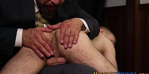 Spanked ass naughty mormon cums tugging