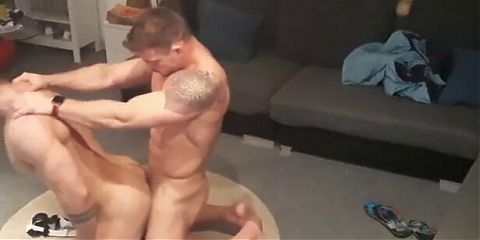 Hot fit married couple fuck at home