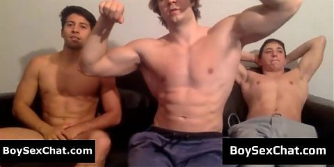 Boy showing off his big nipples