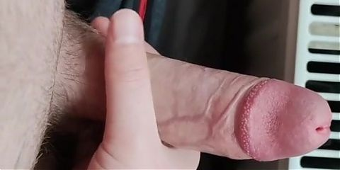 Solo boy cumming in homemade toy pussy