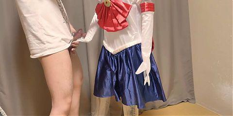 sailor m00n cosplay costume masturbation